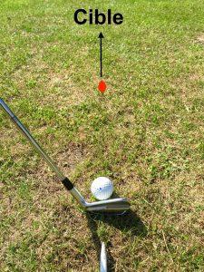 Cible golf visée
