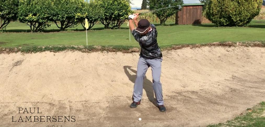sortie de bunker golf exercice facile