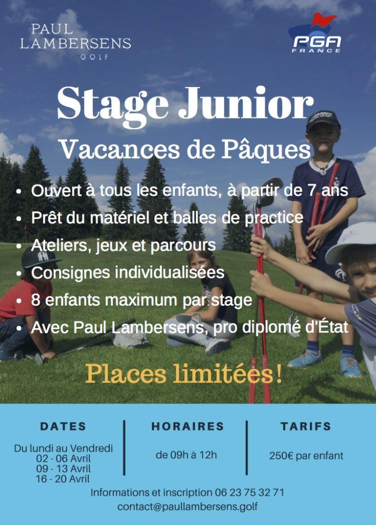 stage junior pacques geneve haute savoie veigy